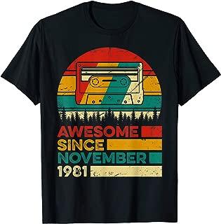 Vintage November 1981 38 Years Old 38th Birthday Gift T-Shirt
