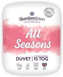 Slumberdown Couette 4 Saisons 3 en 1 en Polycoton 15 Tog, Double