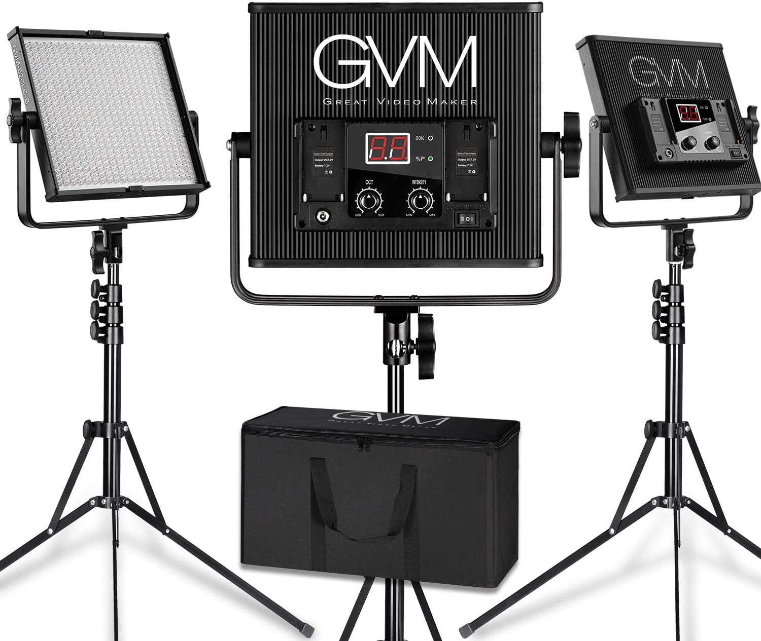 GVM 520S LED Video Panel 40% OFF Cheap Sale Light Variable 3200-5600 with Max 66% OFF Bi-Color
