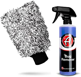 Adam's Bug Remover Combo - Effectively Remove Bug Guts from Car Paint, Windows or Bumper Parts & Accessories After Travel Road Trip - Spray During Car Wash or Dry - Dissolves On Contact