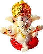 Tanish Trading 2.5 inches Mini Lord Ganesh/Ganpati Poly Marble Idol. Hindu God of Success,Small Ganesha Statue