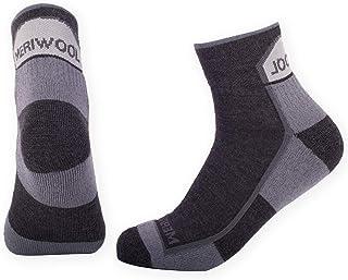 MERIWOOL 2 Pairs Merino Wool Cushioned Quarter Calf Hiking Socks