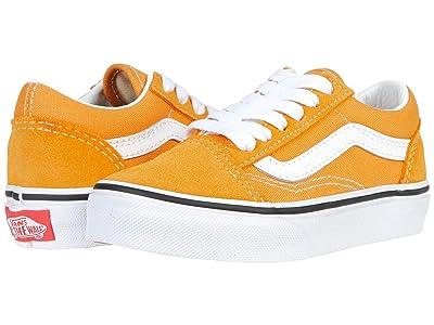 Vans Kids Old Skool (Little Kid) (Golden Nugget/True White) Kids Shoes