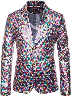 PANBOB Men Suit Elegant Gentleman Costumes Men Long Sleeved Wedding Night Club Party Host Photo Studio Suit Jacket Men Jac...