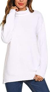 Women's Turtleneck Oversized Sweater Long Sleeve Loose Knit Pullover Jumper