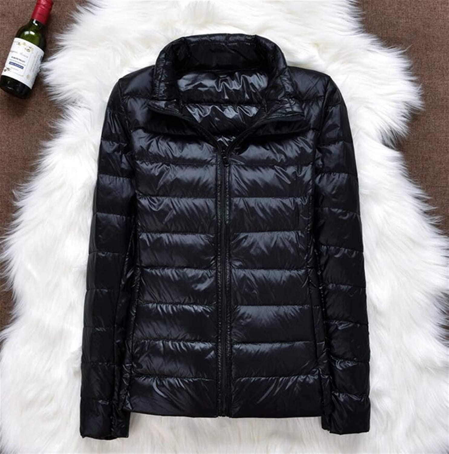 Thickened Down Jacket Leather Plaid New Light Coat Max 72% OFF Winter Ultra Regular dealer