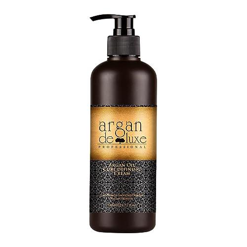 Arganöl Curl Defining Cream in Friseur-Qualität ✔ Intensive Lockenpflege ✔ Glanz, Feuchtigkeit, Sprungkraft ✔ Argan DeLuxe, 240ml