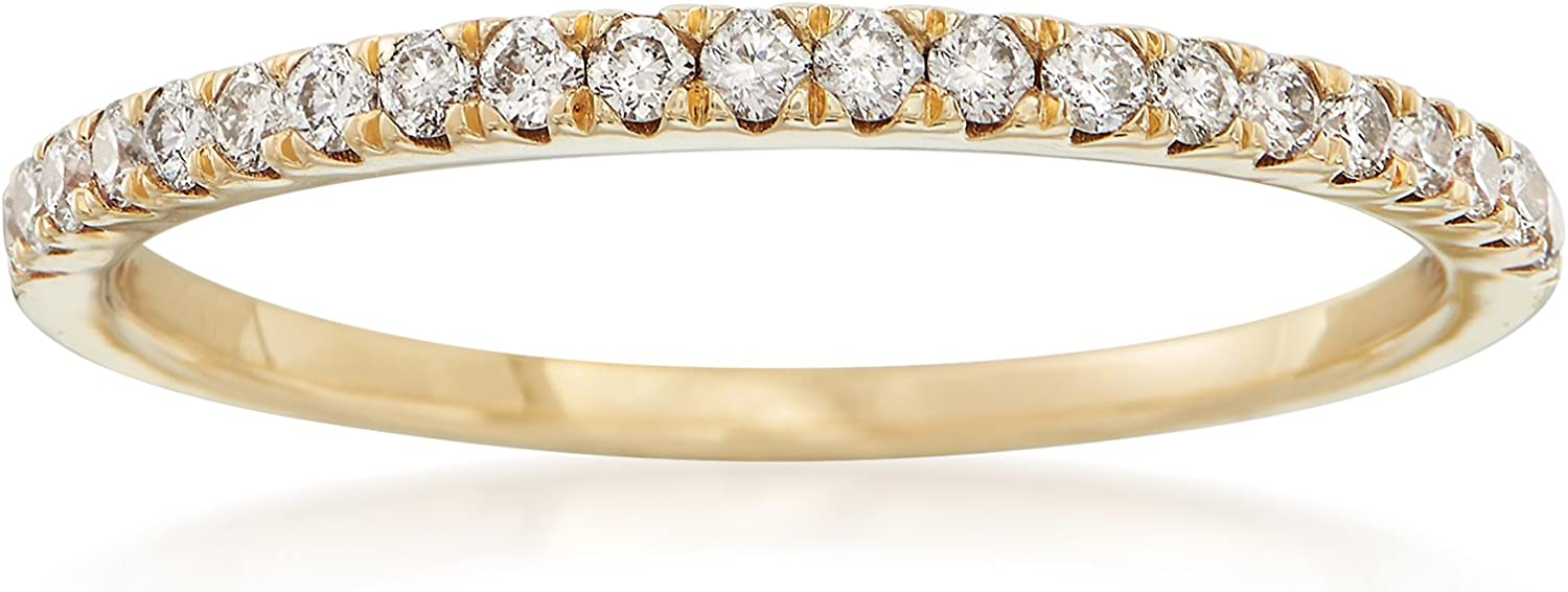 New York Mall Ross-Simons 0.25 ct. t.w. Diamond Tulsa Mall Stackable Yellow 14kt Ring in