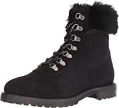 Kenneth Cole REACTION Women's Trail Bootie Lace Up with Faux Fur Ankle Boot