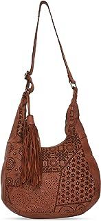 Kompanero Brown Color Women's Leather Sling Bag