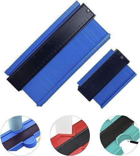 "wholesale Contour high quality Gauge Duplicator iKiKin Widen Shape Duplicator Profile Gauge Tool Precisely Copy Irregular for Corners and Contoured 5"" 2021 & 10"" (Blue) outlet sale"