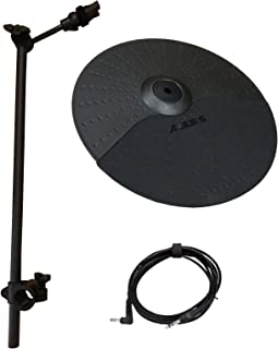 Alesis Nitro Cymbal Expansion Set: 10 Inch Cymbal with Choke, 22in Cymbal Arm, Rack Clamp and 10ft TRS Cable (10 inch Cymbal w/Choke - 22in Arm)