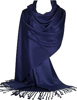 Ladies Women Blue Modal Plain Super Soft Long Scarf Wrap Shawl Pashmina UK
