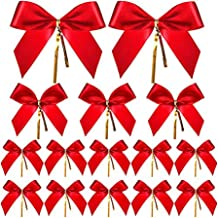 36 PCS Christmas Bow Ribbon Bow for Christmas Tree Christmas Wreath Christmas Ribbon Bows Ornaments Red
