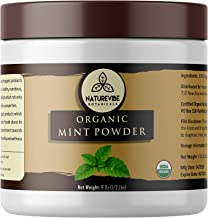 Naturevibe Botanicals Organic Mint Powder 8oz, Non-GMO and Gluten Free | Peppermint powder | Supports Digestion | Adds Flavor.