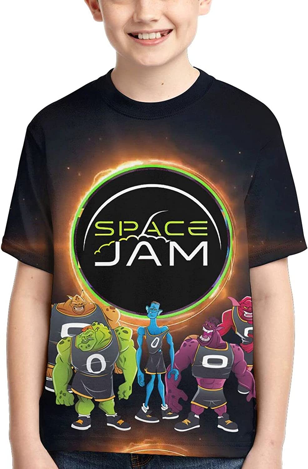 Kids Spa&Ce Ja&M T-Shirt Anime 3D Printed Cute Casual Graphic Shirt Short Sleeve Funny Tees Tops Summer for Boys Girls