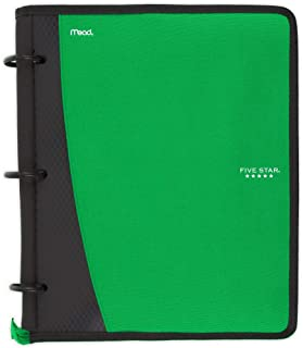 Five Star Flex Hybrid NoteBinder, 1 Inch Ring Binder, Notebook and Binder All-in-One, Green (73416)