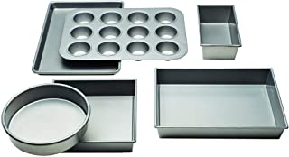 Chicago Metallic Commercial II Non-Stick 6-Piece Bakeware Set, Silver