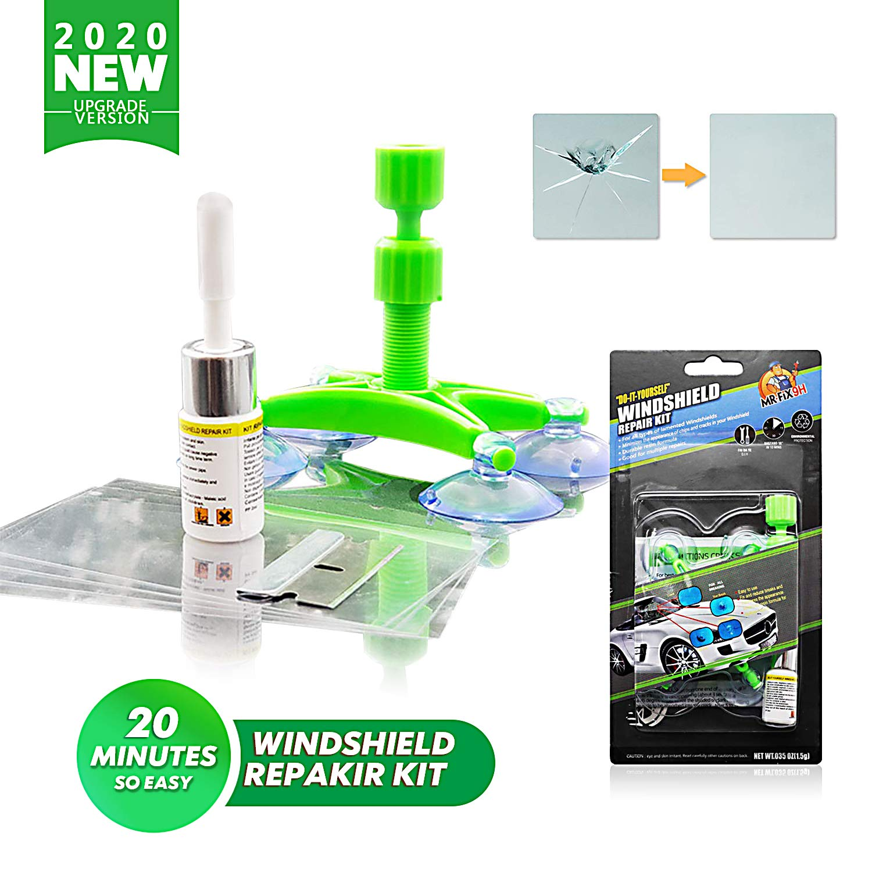 Windshield Repairing Resin Agent PerGrate Automotive Glass Repair Fluid Windshield Repair Kit,Cracked Glass Repair Kit