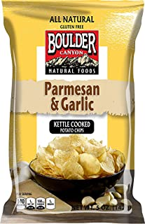 Boulder Canyon All Natural Kettle Cooked Potato Chips Parmesan and Garlic -- 5 oz (Pack of 2)
