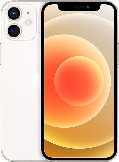 هاتف ابل ايفون 12 ميني الجديد مع تطبيق فيس تايم - ذاكرة تخزين 64 جيجا - لون ابيض
