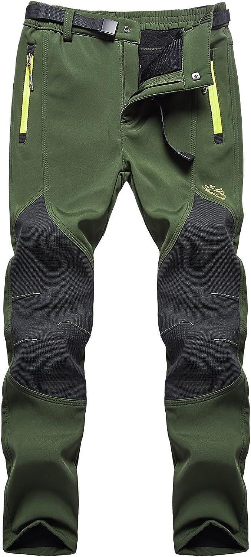 FunnySun Women's Outdoor Water Resistant Windproof Fleece Snow Hiking Pants