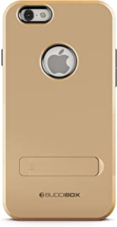 iPhone 6s Case, BUDDIBOX [Shield] Slim Dual Layer Protective Case with Kickstand for Apple iPhone 6 and 6s, (Gold)