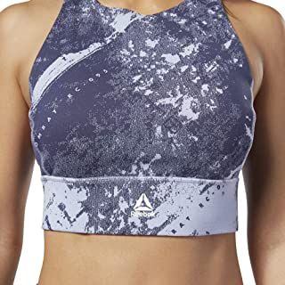 Reebok Women's Combat Jacquard Bralette - All Over Print