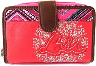ba12411e76b Billetera de lona 'Lois Jean'red rose ...