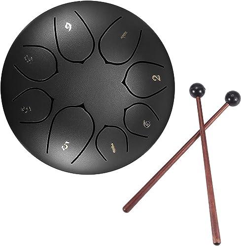 Konesky Tambor De Lengüeta De Acero Juego De Instrumentos De Batería Etérea De Percusión Sintonizada De 6 Pulgadas Y ...