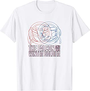 Marvel The Falcon And The Winter Soldier Line Art T-Shirt