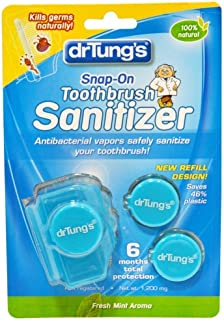 Dr. Tung's Snap-On Toothbrush Sanitizer 60 Day Protection (Flavors Vary)