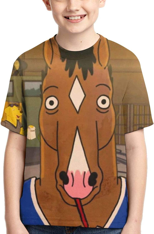Bo-Jack Horseman Boys T-Shirt Kids Causal Short Sleeve Youth Shirts Child Tees Tops