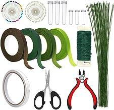 Floral Arrangement Kit, WEST BAY 17Pcs Flower Tools Include Floral Wire Cutter Scissor Floral Tape 22 Gauge Paddle Wire 26 Gauge Stem Wire Pearl Corsage Pin Bouquet Stem Wrap Florist