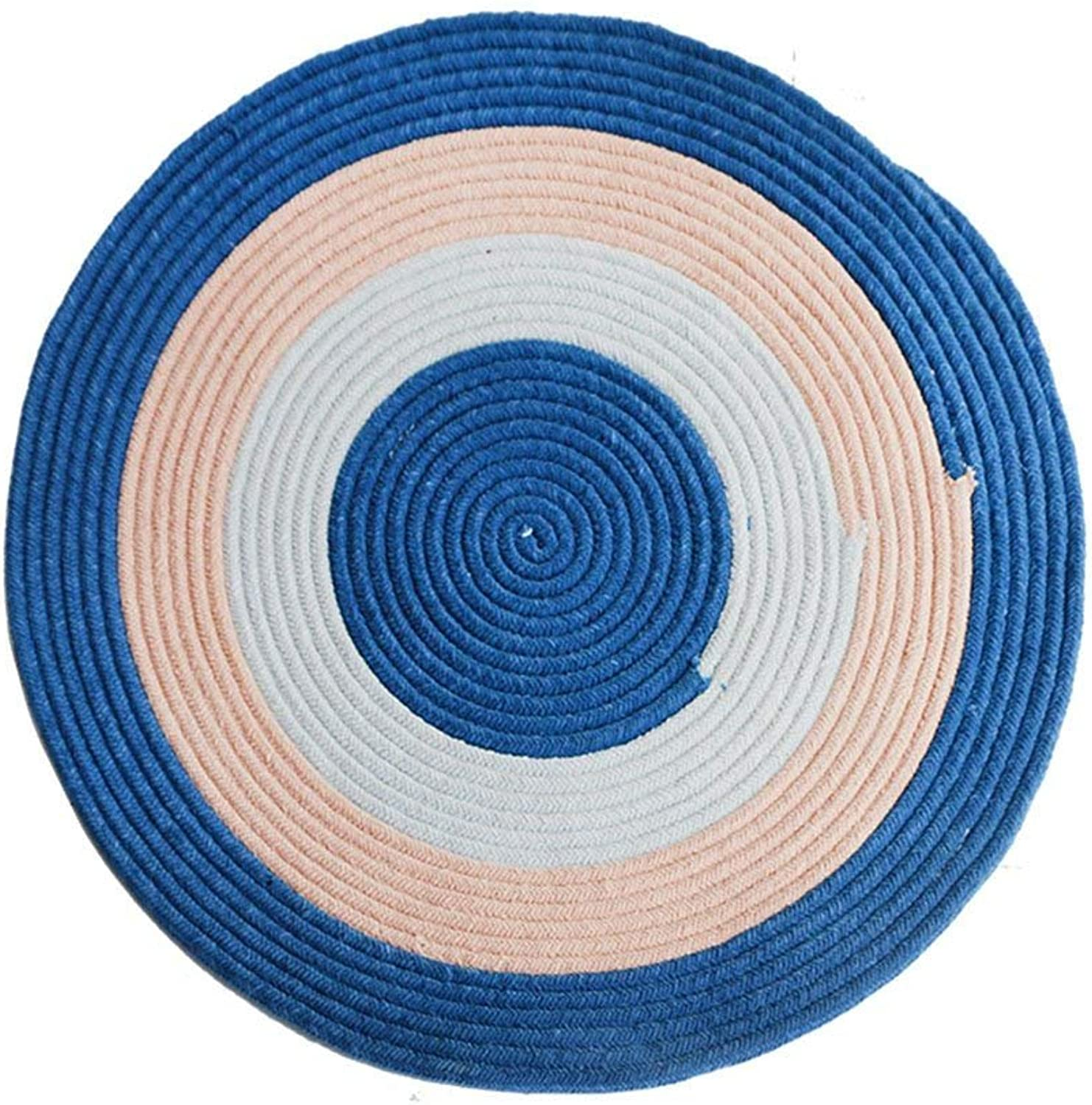 Round Carpet, color Chenille Weaving Round Carpet Modern Simple Living Room Bedroom Study Basket Computer Chair 160x160cm, Soft and Comfortable (color    1, Size   100  100cm)
