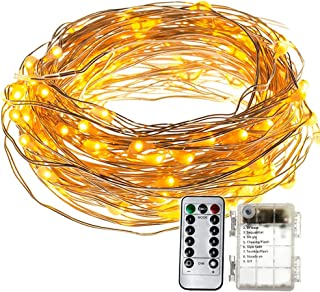 Refaxi 5M Waterproof 50 LED Outdoor String Fairy Lights with Remote & Timer /8 Modes