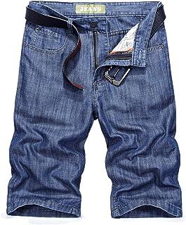 Goorape Men's Denim Cargo Shorts Cotton Casual Multi-Pocket Utility Jeans