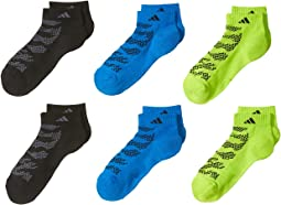 Tiger Style Low Cut Socks 6-Pack (Little Kid/Big Kid/Adult)