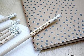 Matita con testo personalizzato, gruppo x5 matite, regalo personalizzabile