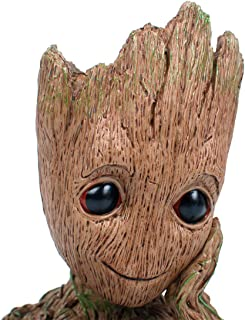 Aotuman Desk Organizer, Pencil holder, Flowerpot Perfect for Mini Succulents, The Galaxy Groot Action Figures Model Toy Office Storage, Candy Dish, Festival Gift Idea 6''
