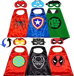 NuGeriAZ Superhero Capes for Kids-Superhero Costumes for Boys Superhero Capes for Kids Dress up 4-10 Year Old Boy Gifts