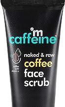 mCaffeine Naked & Raw Coffee Face Scrub, 100 g | Vitamin E | Tan Removal | Oily/Normal Skin | Paraben & SLS Free