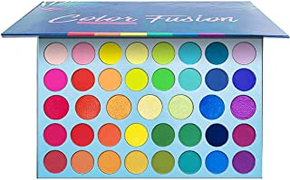 39 Color Rainbow Eyeshadow Palette - Professional Makeup Matte Metallic Shimmer Eye Shadow Palettes - Ultra Pigmented Powd...