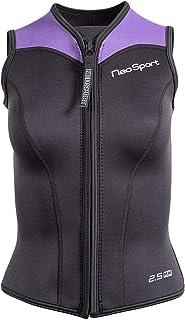 NeoSport Wetsuits Women's Premium Neoprene 2.5mm Zipper Vest