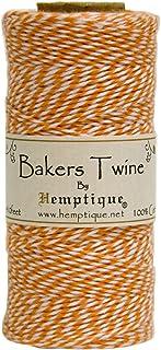 Hemptique BTS2ORG-W Baker's Twine Spool, orange and White