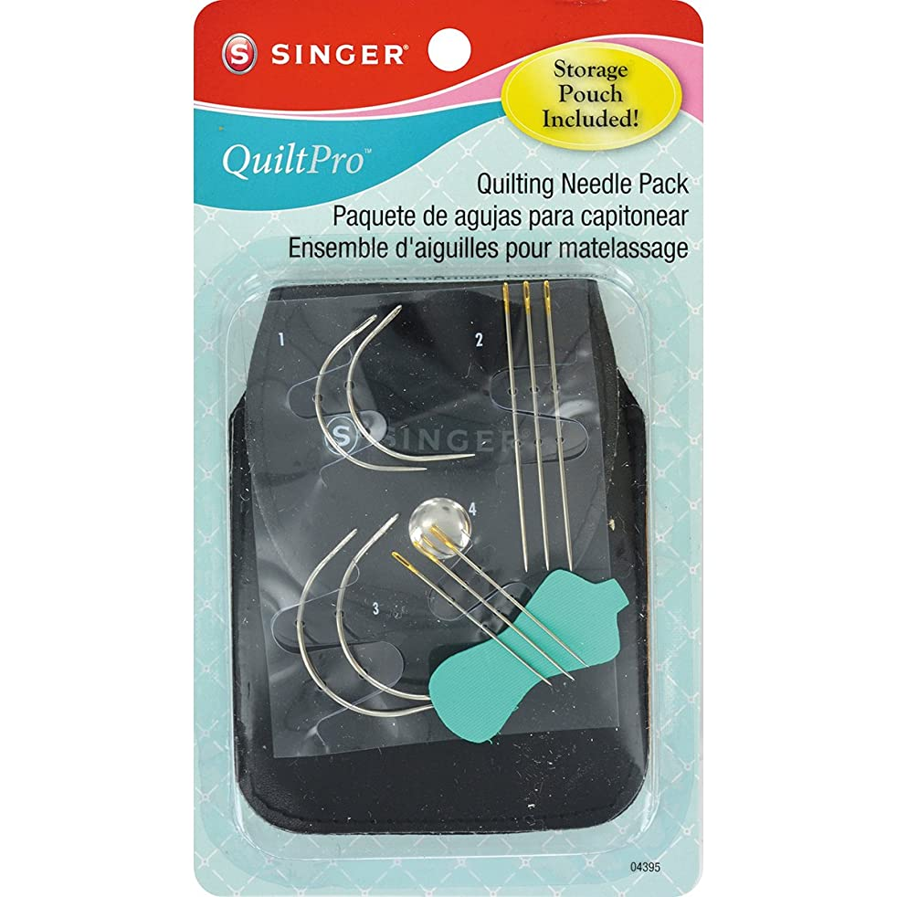 SINGER QuiltPro Quilting Needle Pack with Storage Pouch (12 Pack)