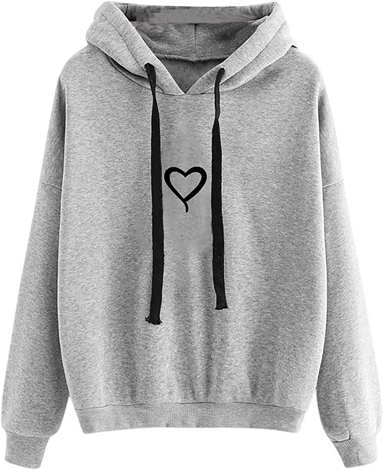 Hoodie Tops for Women Autumn and Winter Plus Size Sweatshirts Cute Printing Long Sleeve Pullover Hoodies Blouse