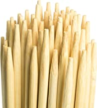 Marshmallow Smores Roasting Bamboo Sticks| 110-Pack| Extra Long & Safe For Kids Design-36 Inch Long, 5mm Thick| Wooden, Disposable & Biodegradable Skewers| Outdoor BBQ/Firepit, Hot Dogs, Kebab