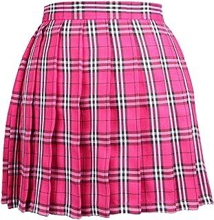 Mujeres Niñas Corto Cintura Alta Falda Plisada Falda Tenis Falda Escolar Falda Uniforme