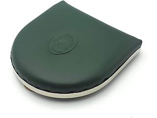 franartPiel - Monedero de tacón clásico Piel Ubrique con refuerzo de metal - Alta Calidad (Verde)